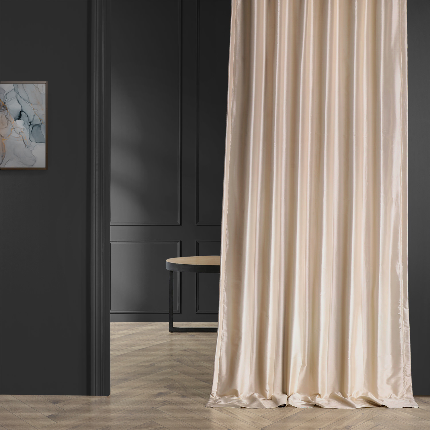 Silk Pearl White Curtains Half Price Drapes