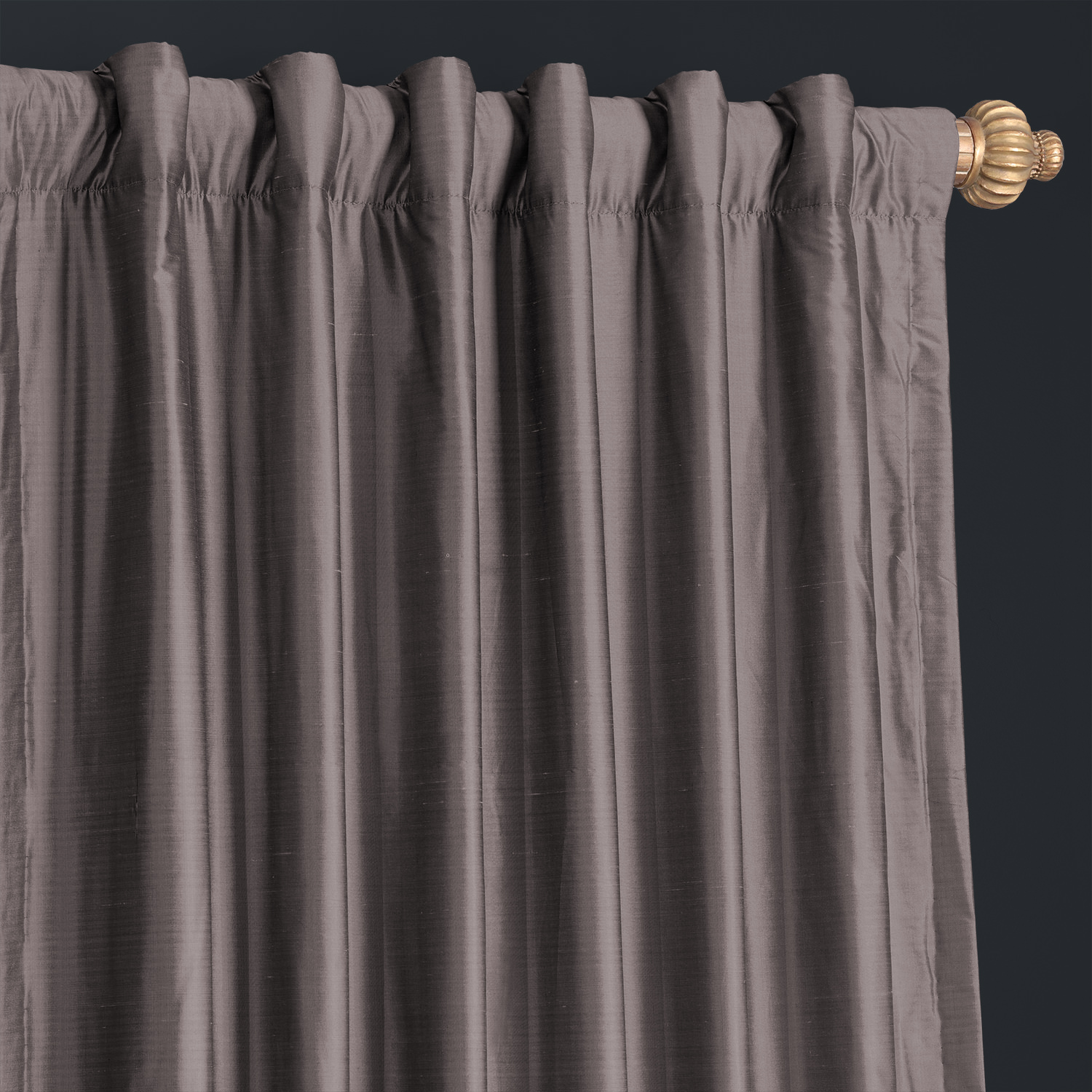 Silvery Moon Thai Silk Curtain