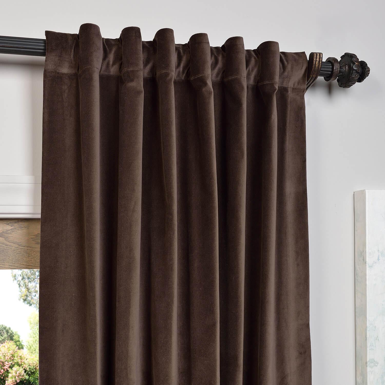 Buy Chocolate Vintage Cotton Velvet Curtain Amp Drapes