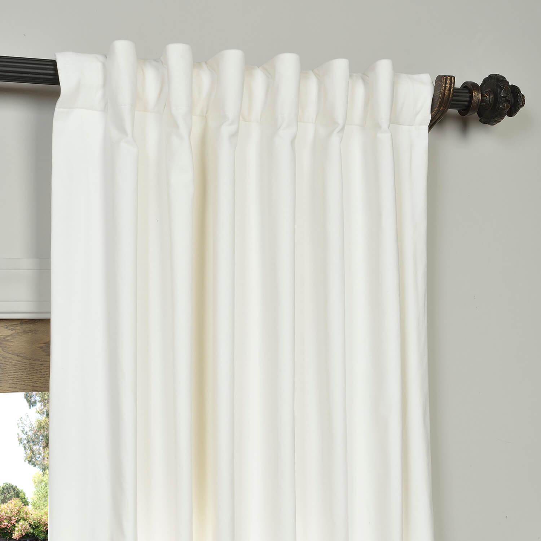 Get White Vintage Cotton Velvet Curtain Velvet Drapes