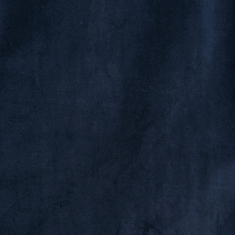 Navy Vintage Cotton Velvet Fabric