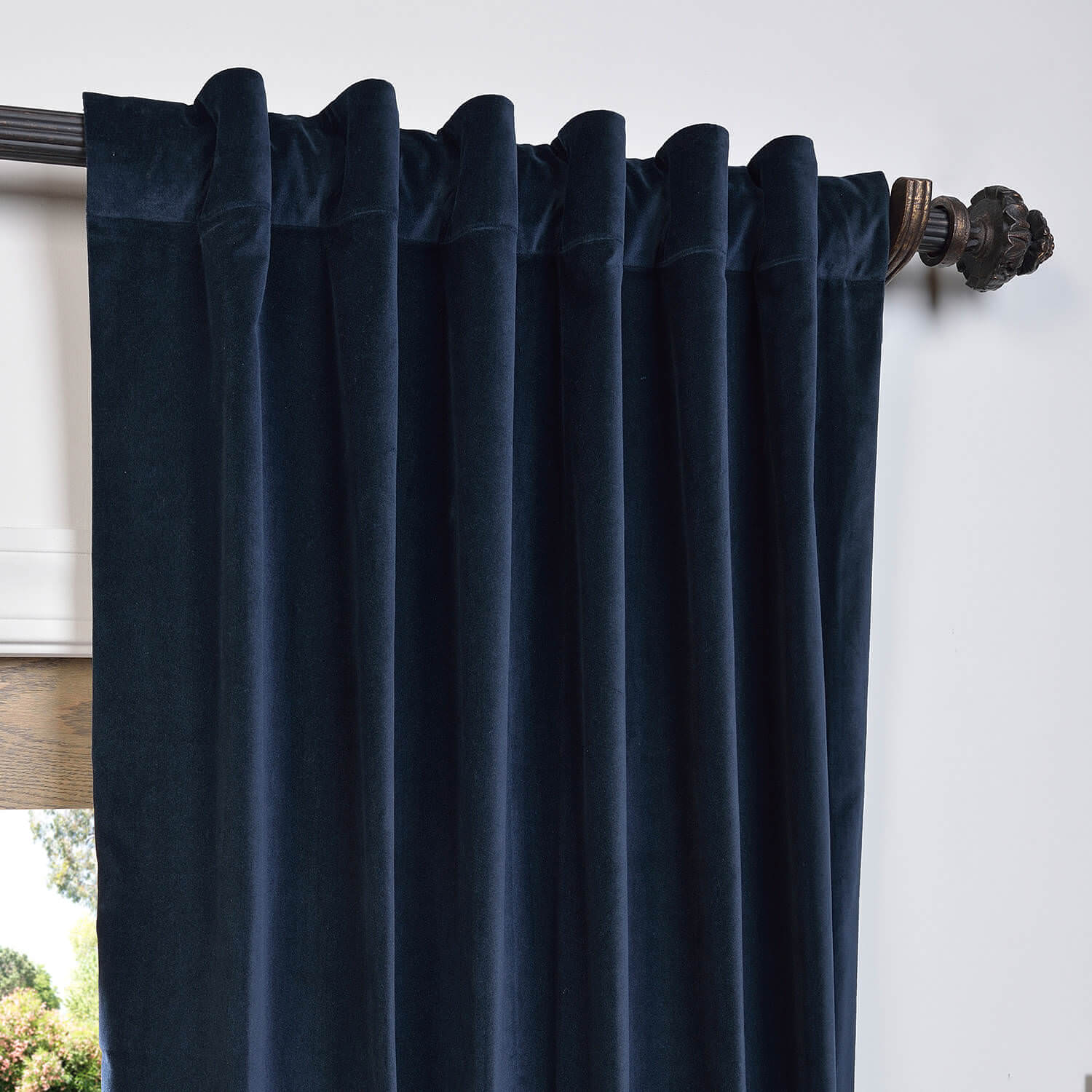 Buy Navy Vintage Cotton Velvet Curtain Amp Drapes