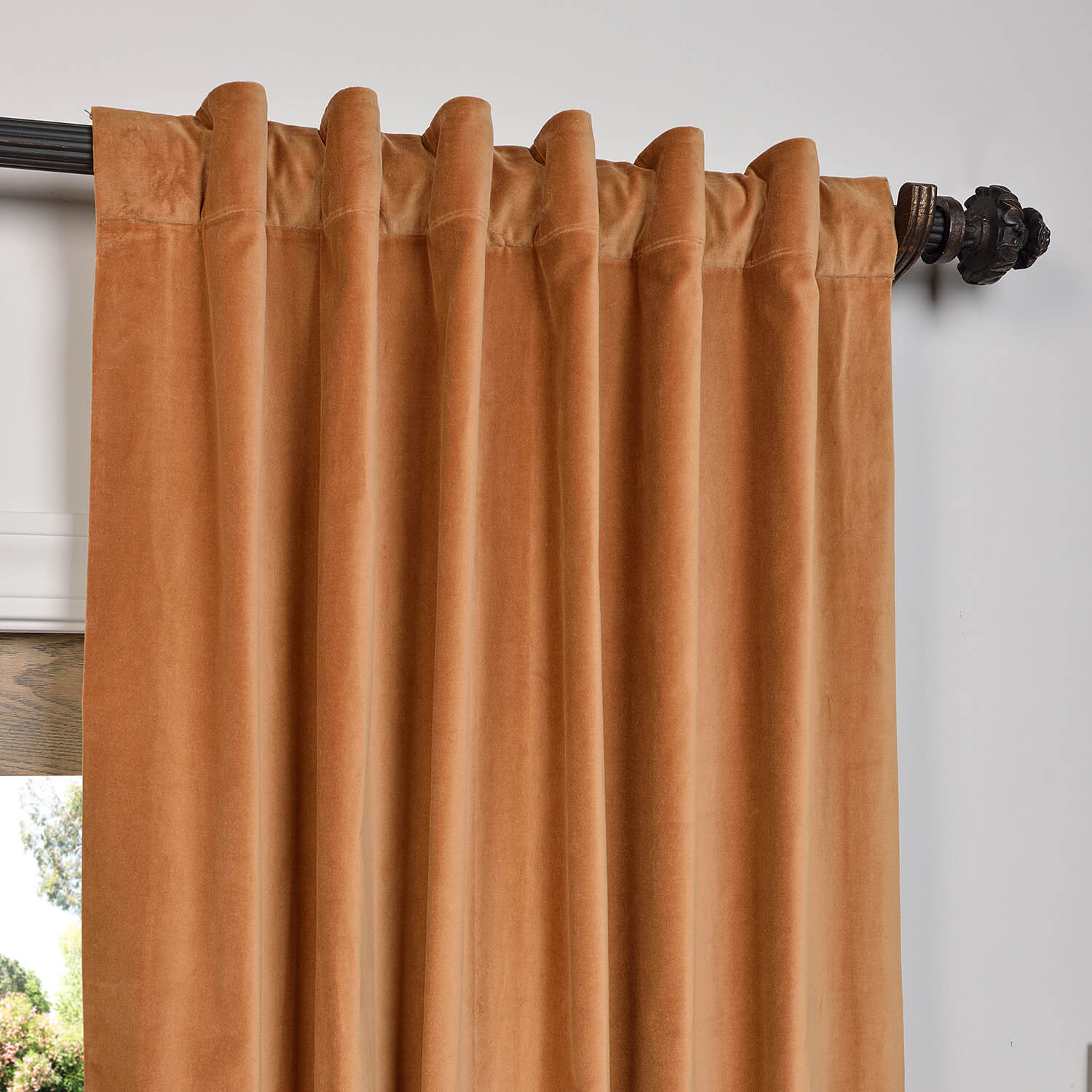 Get Gold Vintage Cotton Velvet Curtain Velvet Drapes