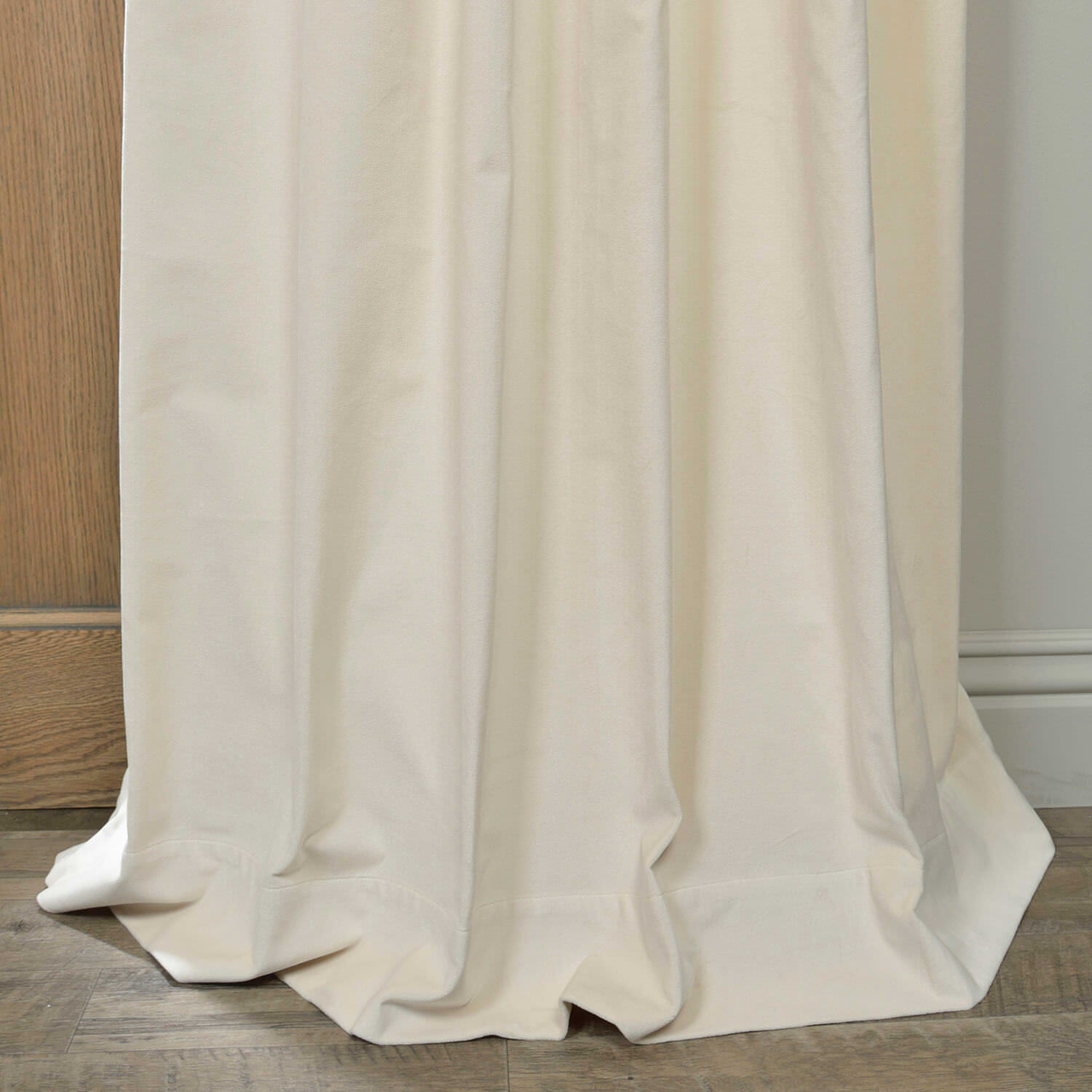 Ivory Vintage Cotton Velvet Curtain