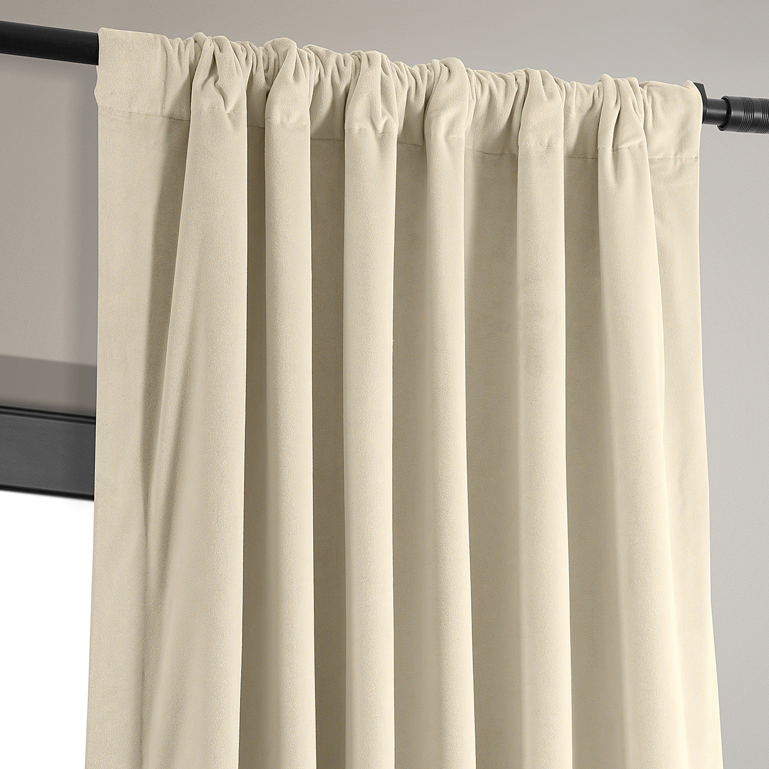 Signature Ivory Blackout Velvet Curtains & Drapes