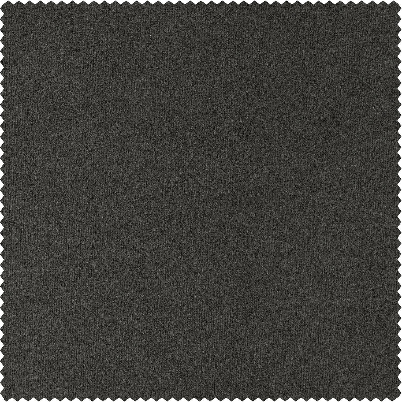 Signature Gunmetal Grey Velvet Fabric