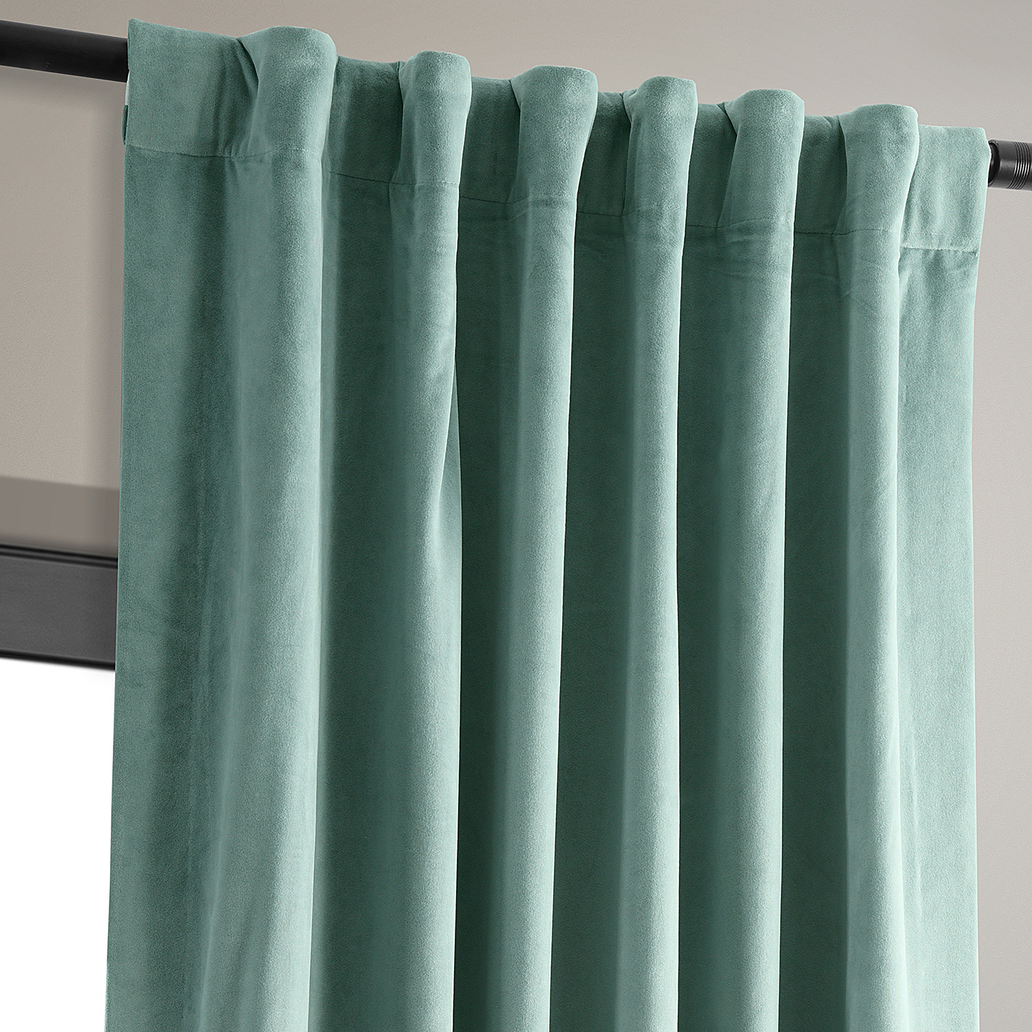 Signature Aqua Mist Blackout Velvet Curtains Drapes