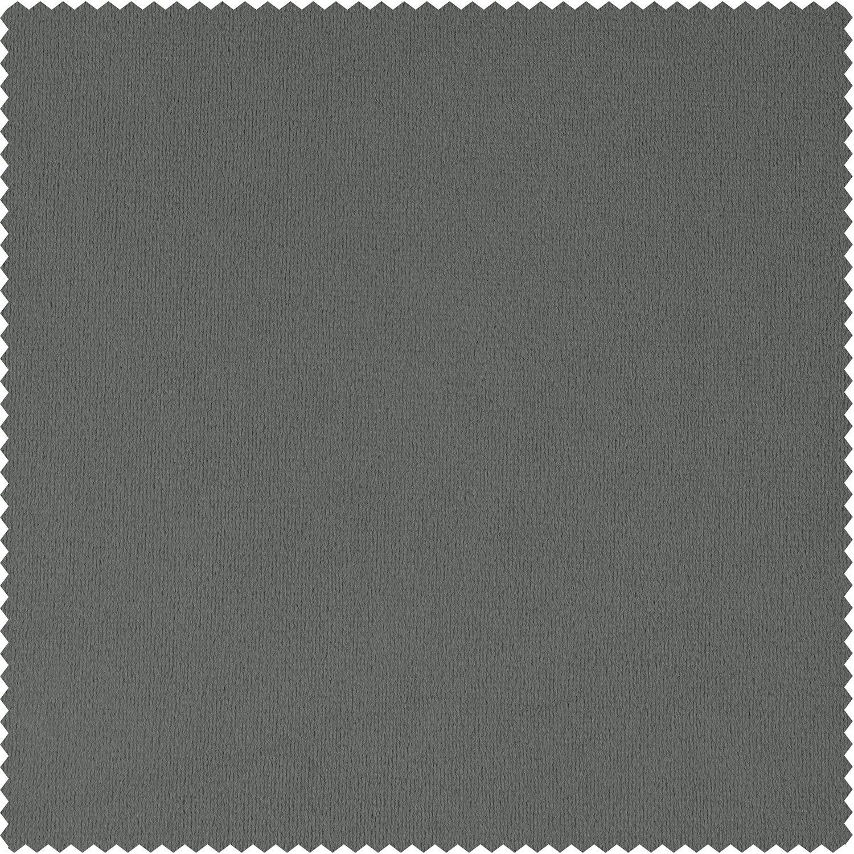 Signature Silver Grey Velvet Fabric