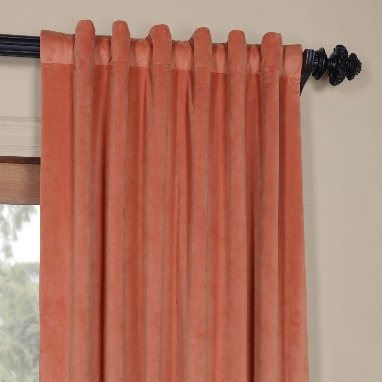 Luxury Signature Desert Coral Blackout Velvet Curtain