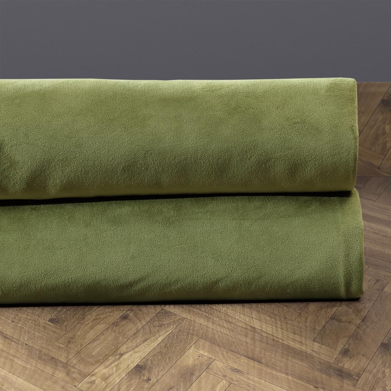 Signature Perenial Green Velvet Fabric
