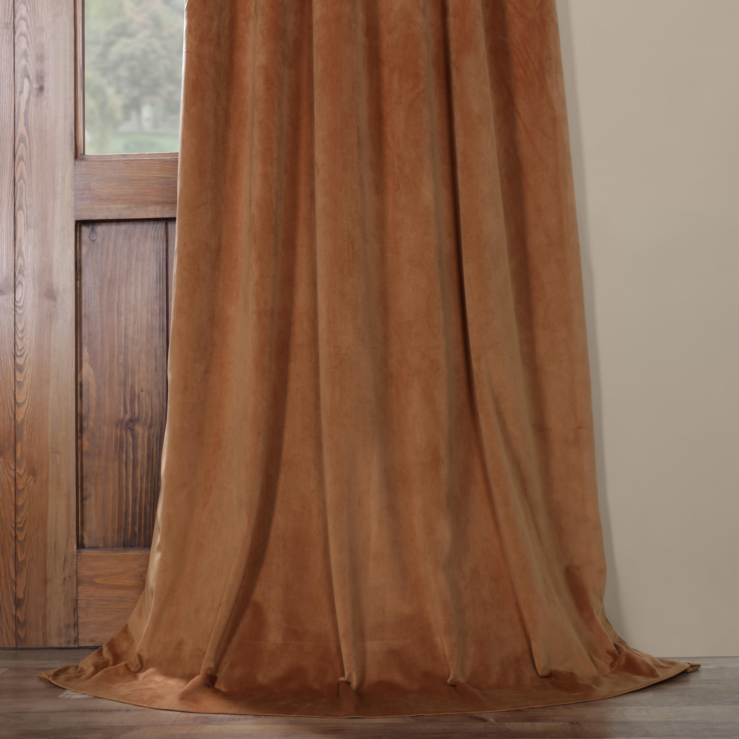 Signature Rusty Gate Blackout Velvet Curtain