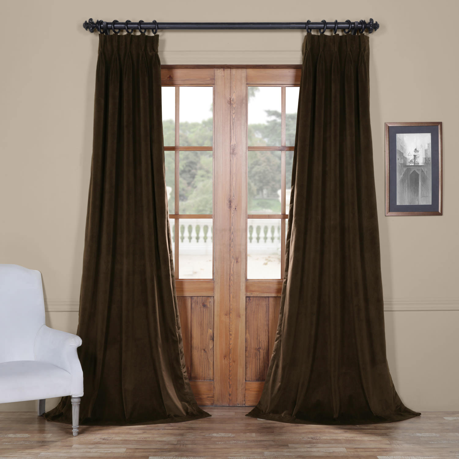 Signature Java Pleated Blackout Velvet Curtain