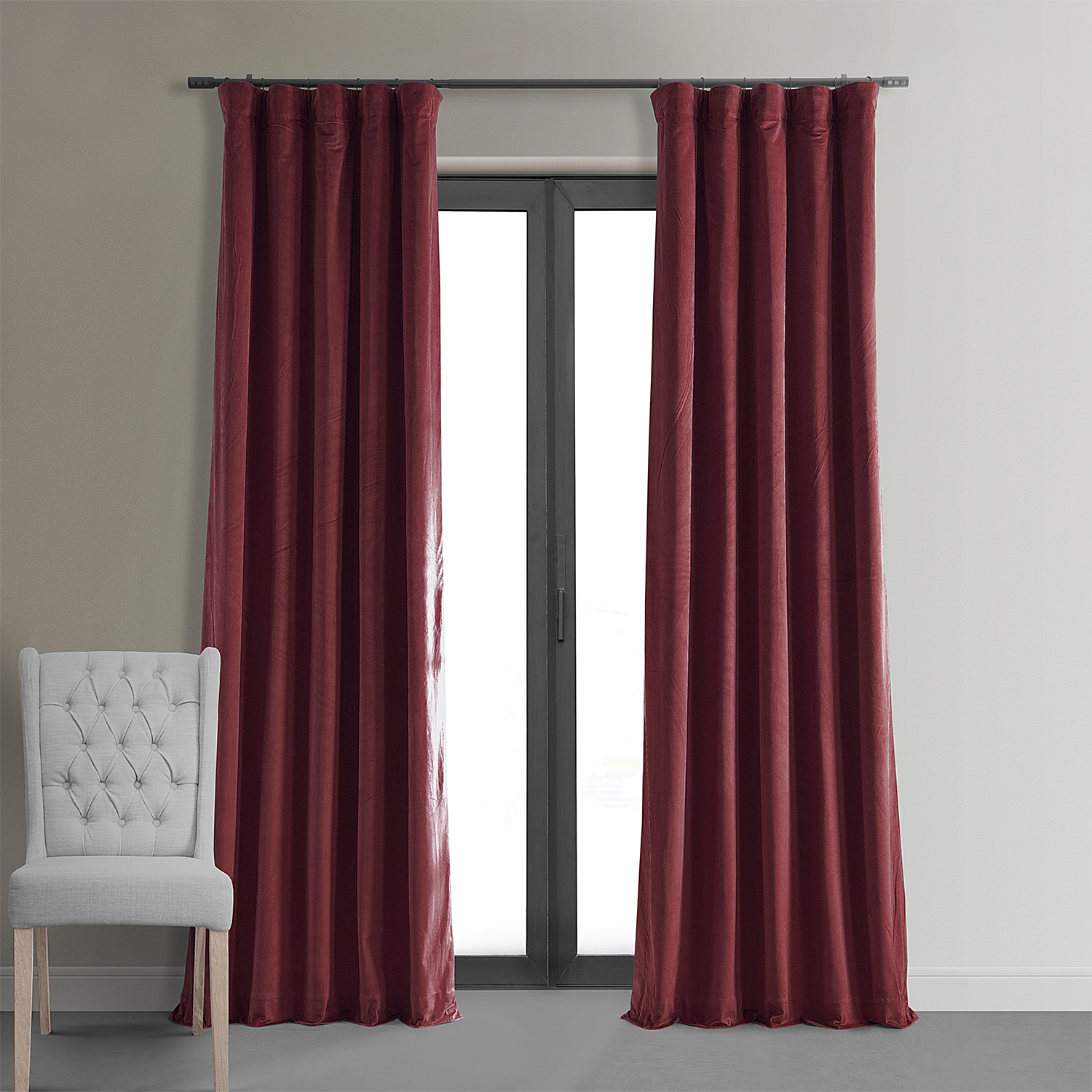 Design Velvet Curtains signature burgundy blackout velvet curtains drapes curtain