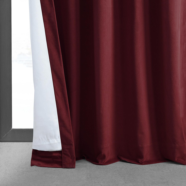 Signature Burgundy Blackout Velvet Curtain