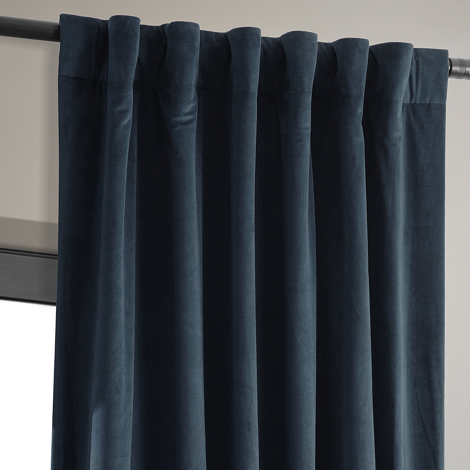 Signature Midnight Blue Blackout Velvet Curtains