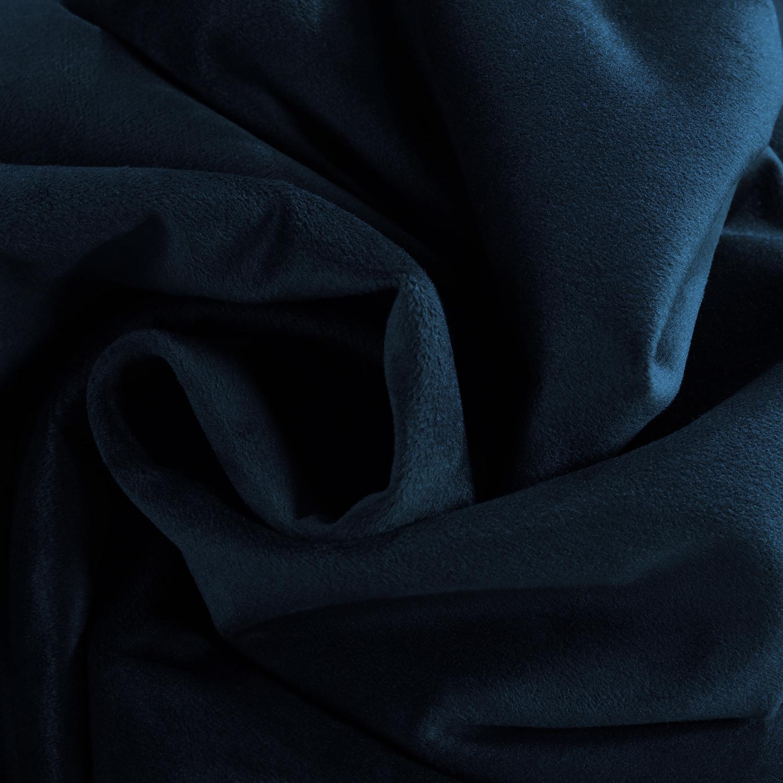 Signature Midnight Blue Extra Wide Grommet Blackout Velvet Curtain