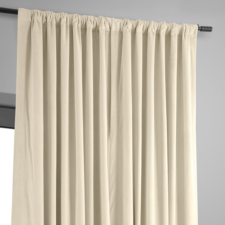 signature ivory extra wide velvet blackout pole pocket