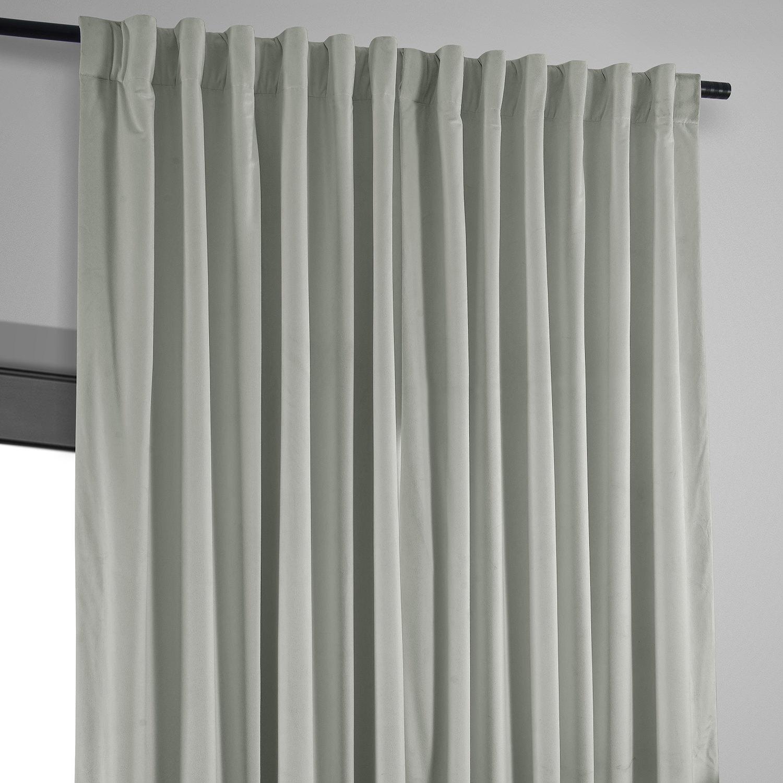 extra wide blackout velvet curtain. Black Bedroom Furniture Sets. Home Design Ideas