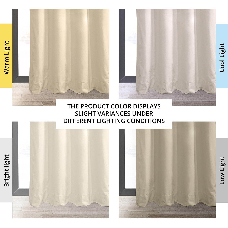 Signature Ivory Grommet Blackout Velvet Curtain