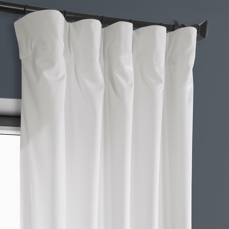 Pillow White Plush Velvet Curtain