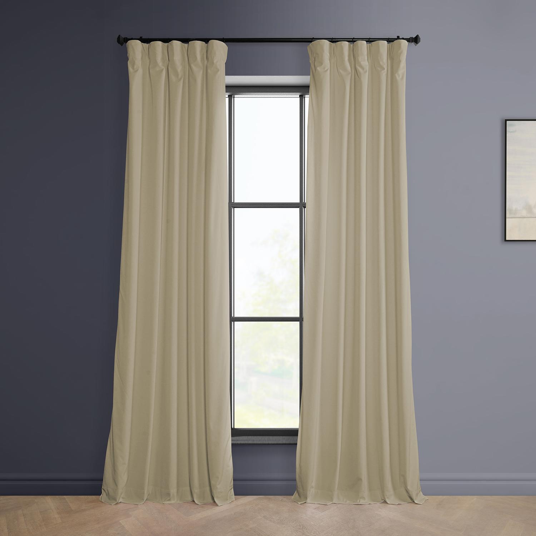 Vanilla Plush Velvet Curtain