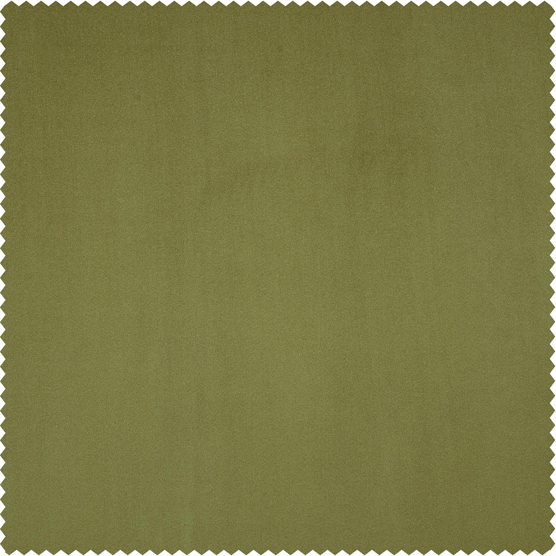 Retro Green Plush Velvet Swatch