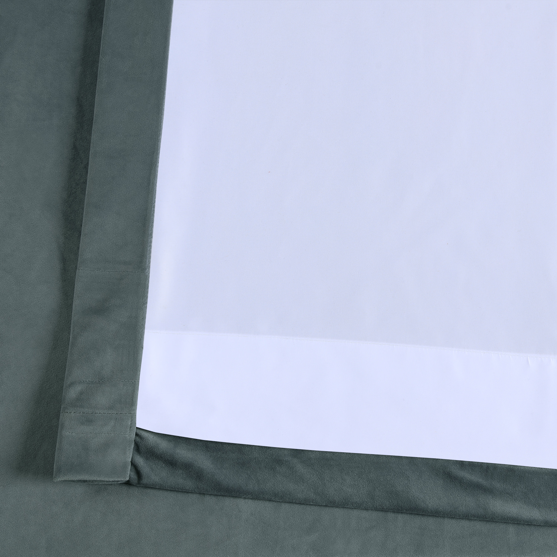 London Blue Plush Velvet Curtain