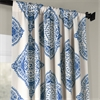 Henna Blue Blackout Curtain