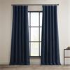 Indigo Faux Linen Blackout Curtain