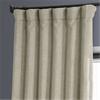 Oatmeal Faux Linen Blackout Curtain