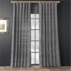 Black & Silver Casual Cotton Curtain