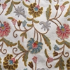 Marlow Embroidered Cotton Crewel Fabric