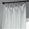 White Heavy Faux Linen Curtain