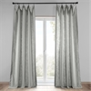 Ash Grey Heavy Faux Linen Curtain