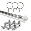 Glass Ball Extendable Rod Set - Brushed Nickel