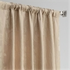 Magdelena Beige & Gold Faux Silk Jacquard Curtain