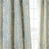 Magdelena Steel Blue & Silver Faux Silk Jacquard Curtain