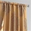 Ellaria Olympic Bronze Faux Silk Jacquard Curtain