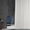 Off White Blackout Extra Wide Vintage Textured Faux Dupioni Curtain