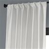 Off White Blackout Vintage Textured Faux Dupioni Curtain