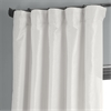 Off White Textured Vintage Faux Dupioni Silk Curtain