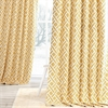 Martinique Yellow Printed Cotton Curtain
