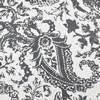 Edina Grey Printed Cotton Cover- PAIR