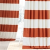 Henna & Off White Horizontal Stripe Curtain