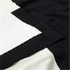 Onyx Black & Off White Horizontal Stripe Curtain