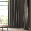 Millstone Gray Solid Cotton Curtain