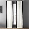 Fresh Popcorn and Black Vertical Colorblock Panama Curtain