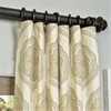 Arabesque Tan Printed Cotton Twill Curtain