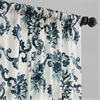 Indonesian Blue Printed Cotton Twill Curtain
