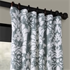 Lacuna Grey Printed Cotton Twill Curtain